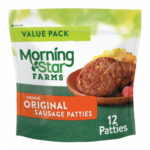 MorningStar Farms Veggie Original Breakfast Sausage Patties Perspective: front