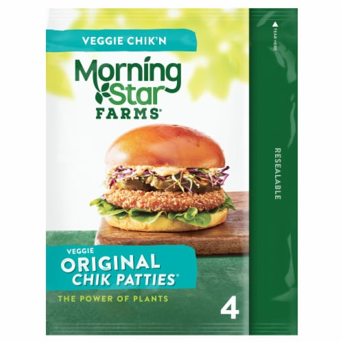 MorningStar Farms Frozen Veggie Chik Patties Original Perspective: front
