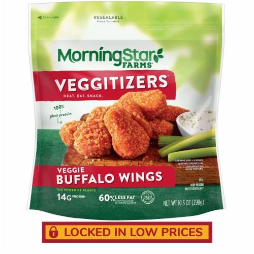 MorningStar Farms Frozen Veggie Wings Buffalo Perspective: front