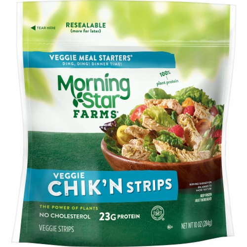 MorningStar Farms Frozen Veggie Meal Starters Chik'n Strips Original Perspective: front