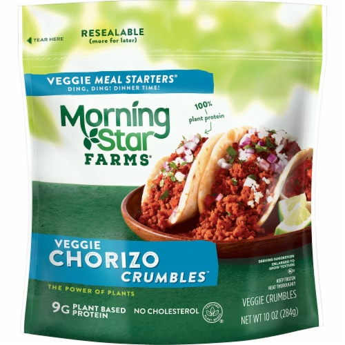 MorningStar Farms Frozen Veggie Meal Starters Chorizo Crumbles Perspective: front