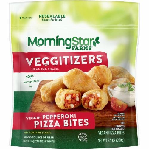 MorningStar Farms Veggitizers Veggie Pepperoni Vegan Pizza Bites Perspective: front