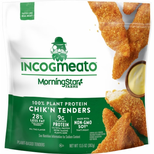Morningstar Farms Incogmeato Plant Protein Chicken Tenders Perspective: front