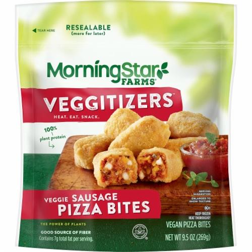 MorningStar Farms Veggitizers Veggie Sausage Vegan Pizza Bites Perspective: front