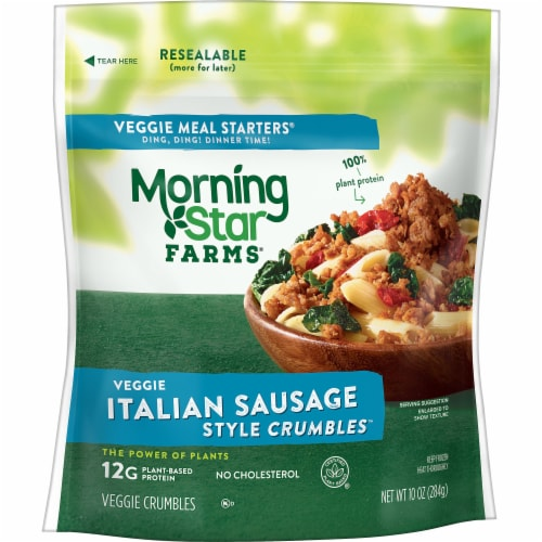 Morningstar Farms Veggie Meal Starters Italian Sausage Style Crumbles Perspective: front