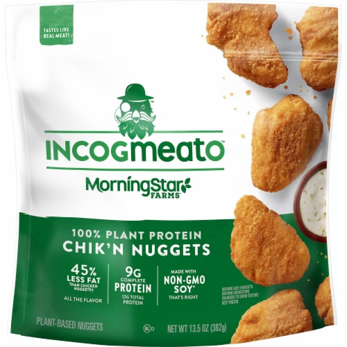 Morningstar Farms Incogmeato Plant Protein Chik'n Nuggets Perspective: front