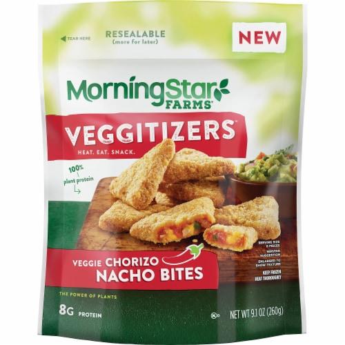 Morningstar Farms Veggitizers Veggie Chorizo Nacho Bites Perspective: front