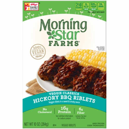 King Soopers Morningstar Farms Veggie Classics Hickory Bbq Riblets 10 Oz
