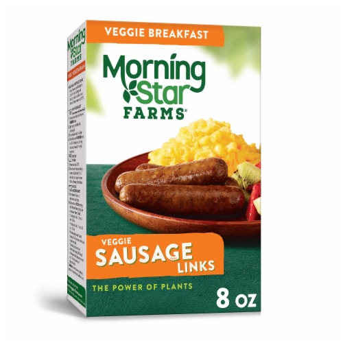 MorningStar Farms Frozen Veggie Breakfast Sausage Links Original Perspective: front