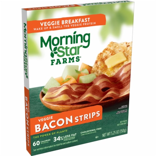 MorningStar Farms Frozen Veggie Bacon Strips Original Perspective: front