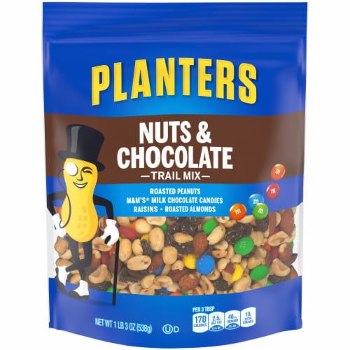Planters Nuts & Chocolate Trail Mix Perspective: front