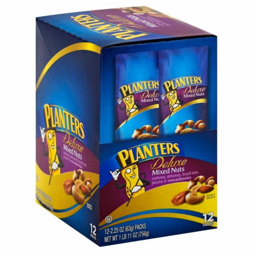 Planters Deluxe Mixed Nut, 2.25 Ounce -- 72 per case. Perspective: front