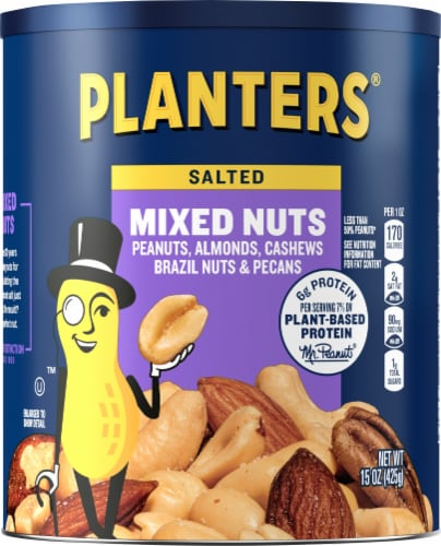 Planters Lightly Salted Mixed Nuts Perspective: front