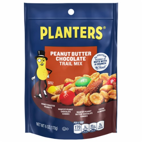 Planters Peanut Butter Chocolate Trail Mix Perspective: front