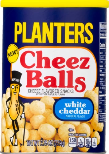 Planters White Cheddar Cheez Balls Cheese Flavored Snacks Perspective: front