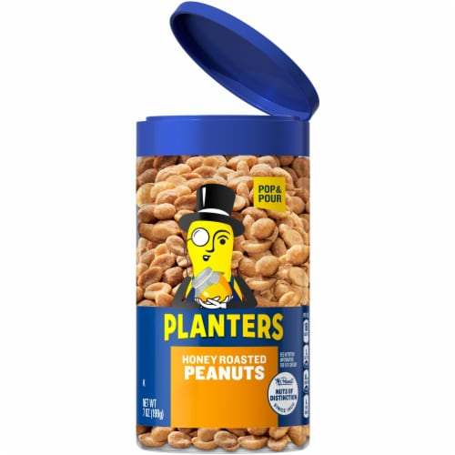 Planters Honey Roasted Peanuts Perspective: front