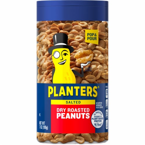Planters Dry Roasted Peanuts Perspective: front