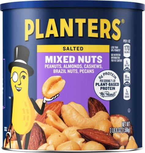 Planters Sea Salt Mixed Nuts Perspective: front