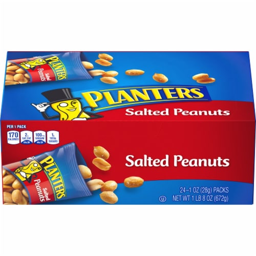 Planters Salted Peanuts 24 Count Perspective: front