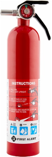 First Alert Rechargeable Home and Kitchen Fire Extinguisher Perspective: front