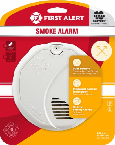 First Alert Combo Smoke Alarm Perspective: front