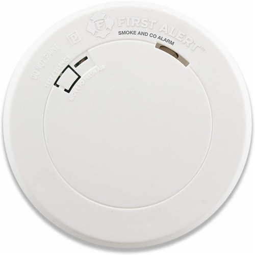 First Alert Round Compact Smoke Detector - White Perspective: front