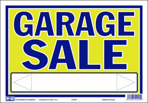 Hy-Ko Garage Sale Sign - Neon Perspective: front