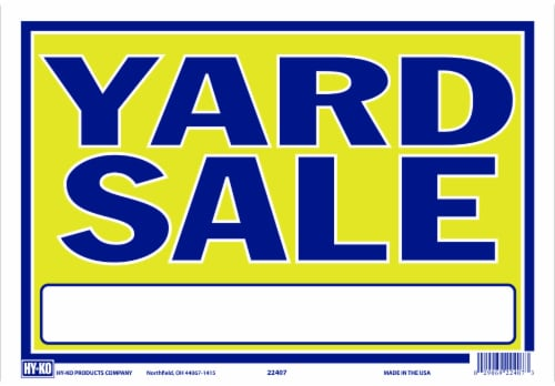 Hy-Ko Neon Yard Sale Sign Perspective: front
