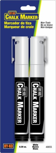 Hy-Ko Chalk Marker Pack - White Perspective: front