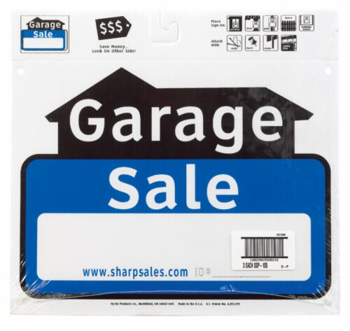 Hy-Ko English Garage Sale Sign Plastic 12 in. H x 13 in. W - Case Of: 3 Perspective: front