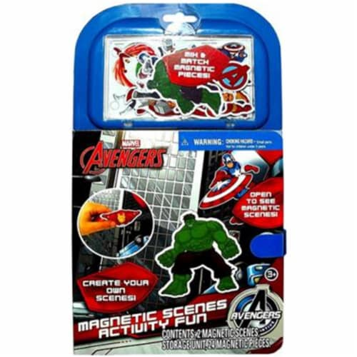 Tara Toys 53885 Marvel Avengers Magnetic Scenes Activity Fun Book Perspective: front