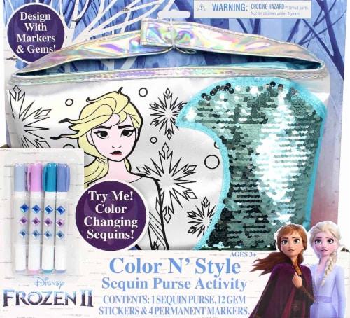 Disney Frozen 2 Color N' Style Sequin Purse Activity Perspective: front