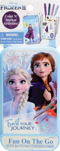Disney Frozen 2 Fun on the Go Activity Kit Perspective: front