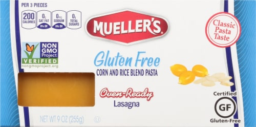 Mueller's Gluten Free Oven Ready Lasagna Noodles Perspective: front