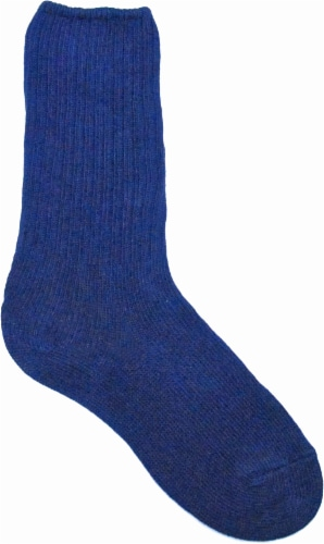 Amelia's Organic Legwear Women's Ribbed Crew Socks - Navy Perspective: front