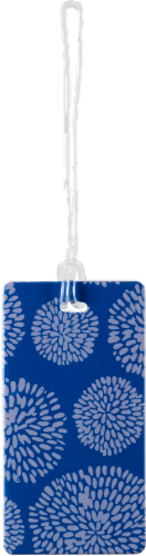 Lewis N. Clark® Blossom Luggage Tag - Blue Perspective: front