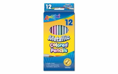 Liquimark Colored Pencil Set 7  Metallic 12pc Perspective: front