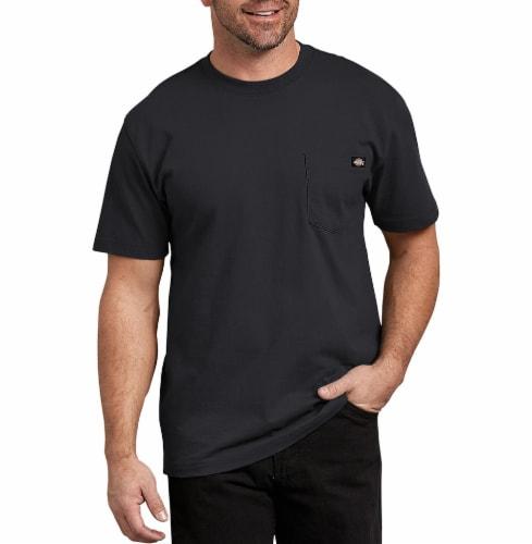 Dickies Men's Heavyweight Short Sleeve T-Shirt - Black Perspective: front