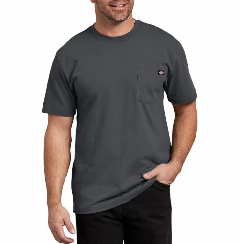 Dickies Men's Heavyweight Short Sleeve T-Shirt - Charcoal Perspective: front