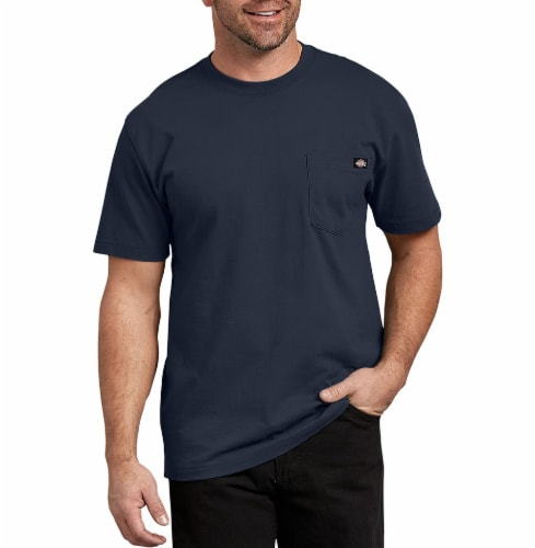 Dickies Men's Heavyweight Short Sleeve T-Shirt - Dark Navy Perspective: front