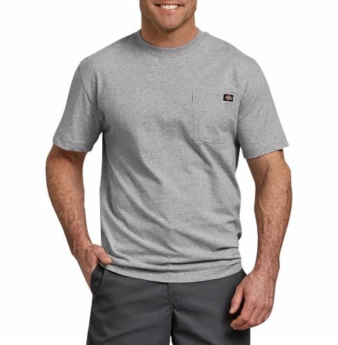 Dickies Men's Heavyweight Short Sleeve T-Shirt - Heather Gray Perspective: front