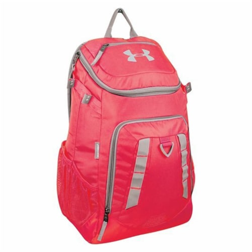Under Armour UASB-UBP-SC Undeniable Pro Baseball Softball Bat Pack, Scarlet Perspective: front