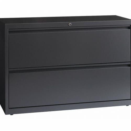 Hirsh Lateral File Cabinet,Charcoal,28 in. H Perspective: front