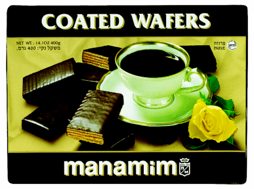 Manamim Chocolate Coated Wafers Perspective: front