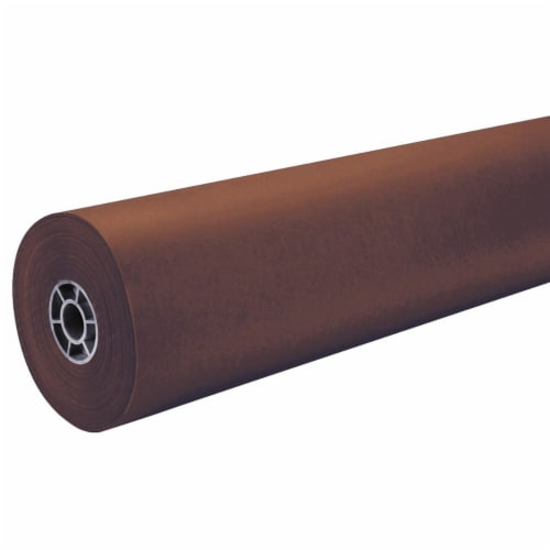"""Pacon 36"""" ArtKraft Duo-Finish Paper Roll - Brown Perspective: front"""