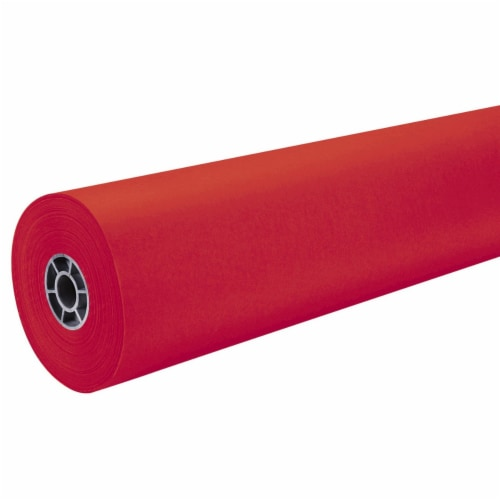 """Pacon 36"""" ArtKraft Duo-Finish Paper Roll - Red Perspective: front"""