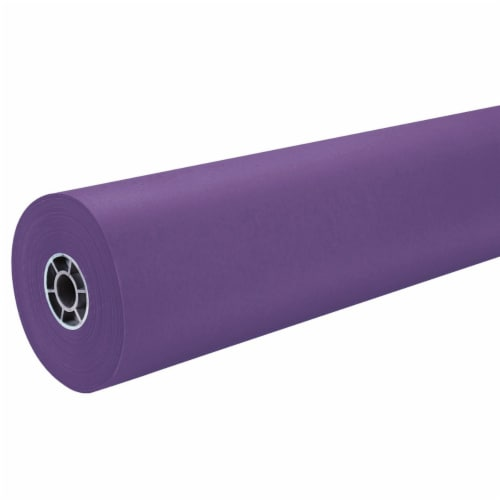 """Pacon 36"""" ArtKraft Duo-Finish Paper Roll - Purple Perspective: front"""