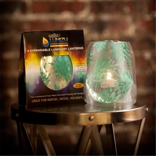 Modgy LUM3006 Lumizu Expandable Luminary Lantern Lila Teal Perspective: front