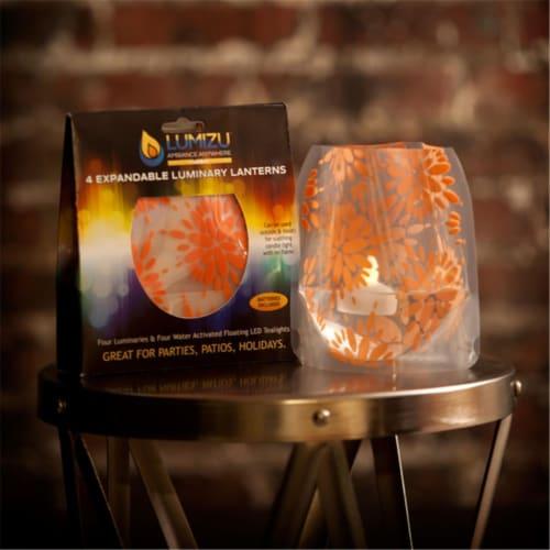 Modgy LUM3007 Lumizu Expandable Luminary Lantern Lila Peach Perspective: front