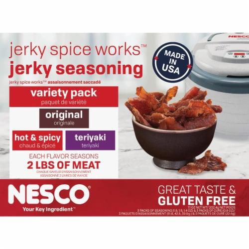 Nesco Jerky Spice Works Variety Spice Seasoning BJV-6 Perspective: front
